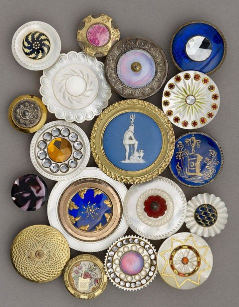Buttons on display in Birmingham: Its People, Its History.