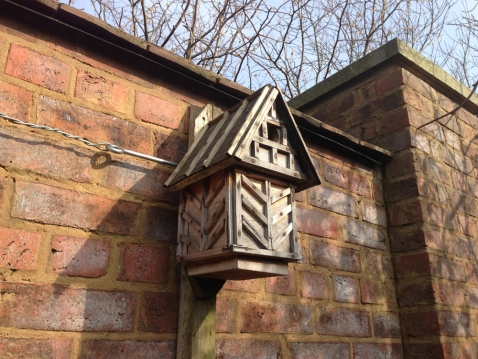 A bird box at Blakesley Hall