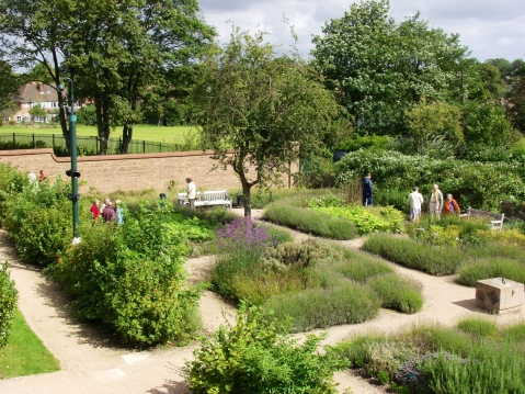 The Herb Garden at Blakesley  Hall.