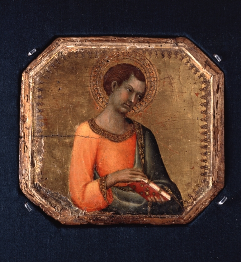 A Saint Holding a Book by Simone Martini