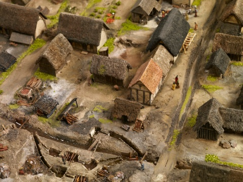 Model of Medieval Birmingham showing Park Street