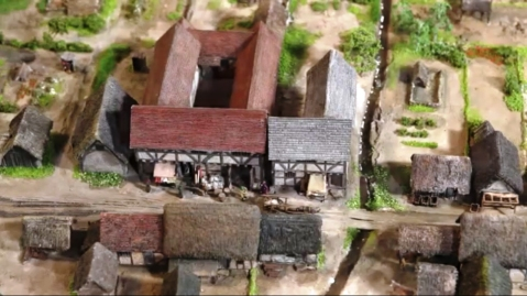 Model of Medieval Birmingham showing what was to become Moor Street