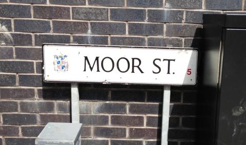Moor Street sign in Birmingham