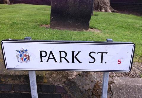 Park Street sign in Birmingham