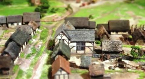 Model of Medieval Birmingham showing Edgbaston Street