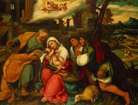 The Adoration of the Shepherds by Bonifazio