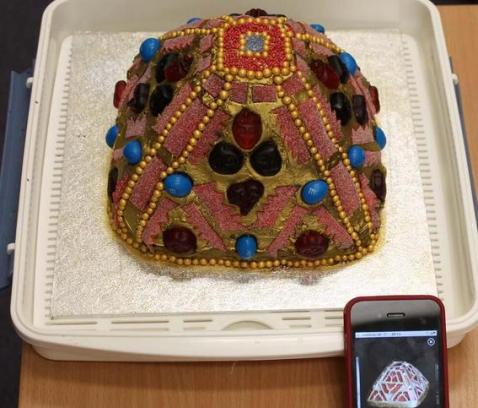 Staffordshire Hoard birthday cake