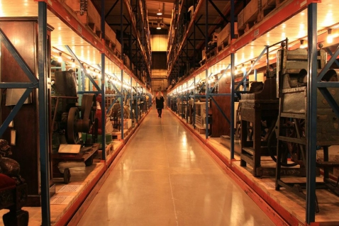 The warehouse inside the Museum Collections Centre