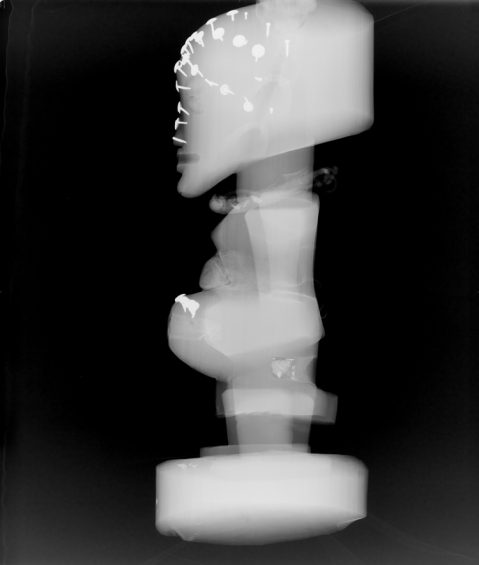 Side x-ray of Nkisi figure