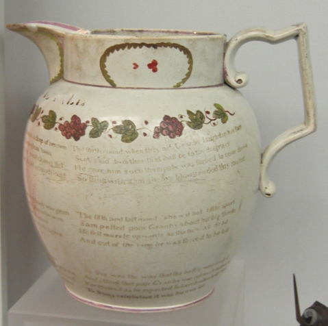 Souvenir jug with poem, 1817