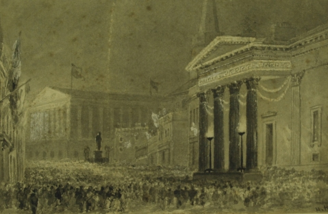 Henry Harris Lines sketch of Birmingham