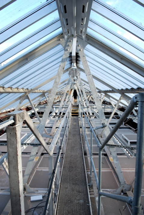 The roof space above Birmingham Museum and Art Gallery