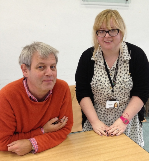 Sarah with Axel Scheffler