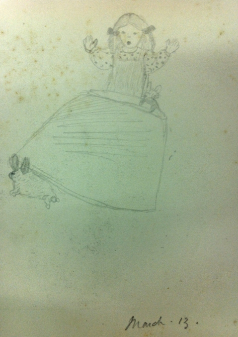 Drawing of a child by Jocelyn Gaskin