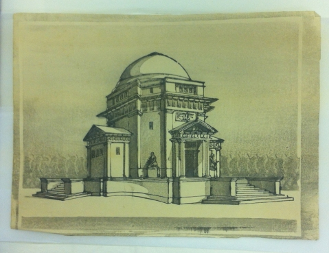 Print of the Hall of Memory by Alice Barnwell