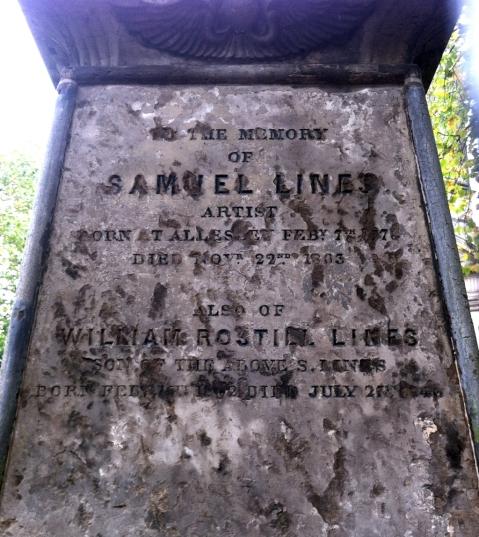 Gravestone of Samuel Lines