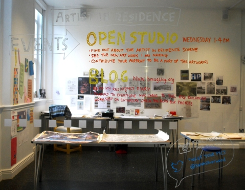 The studio space at Birmingham Museum and Art Gallery