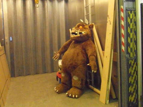 The Gruffalo waiting to be packed away