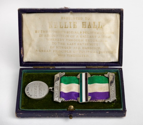 Nellie Hall's hunger strike medal, 1913.