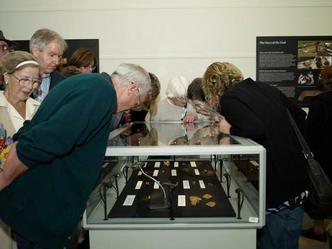The Staffordshire Hoard on display for the first time.