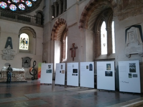 ER Hughes display in St Albans Cathedral