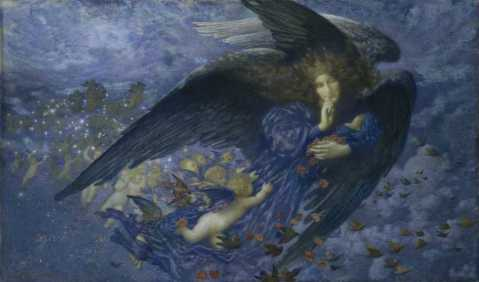 Night with her Train of Stars, 1912 (Birmingham Museums)