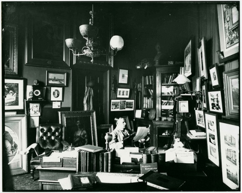 Whitworth Wallis in his office