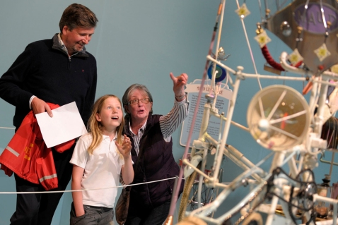 A family enjoying the exhibition