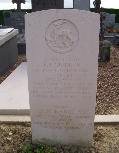 Jame Rance's headstone