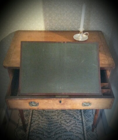 Anne Boulton's writing desk at Soho House.