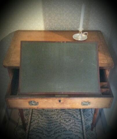 Anne Boulton's writing desk at Soho House.