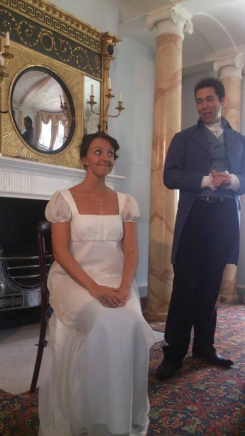 Pattern 23 performing proposal scene from Pride and Prejudice.