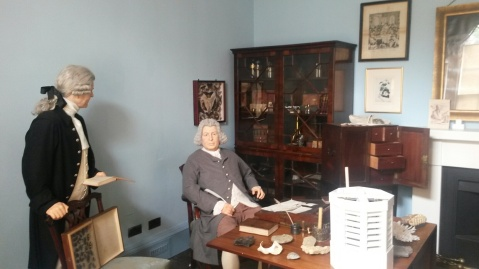 Darwin's study at Erasmus Darwin Museum, Lichfield