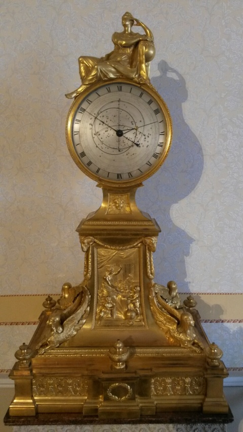 Gold ormolu sidereal clock