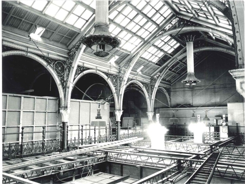 The Gas lights above the Industrial Gallery during the 1960s
