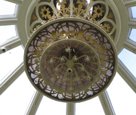 The lamp above the Round Room.