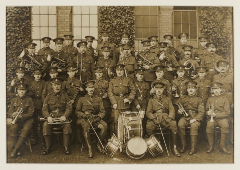 Dudley Road staff band, 1916