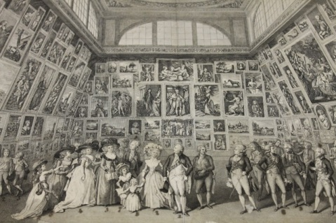 The Exhibition at the Royal Academy, 1787, by Pierto Antonio Martini