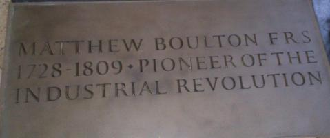 Matthew Boulton memorial stone in Westminster Abbey