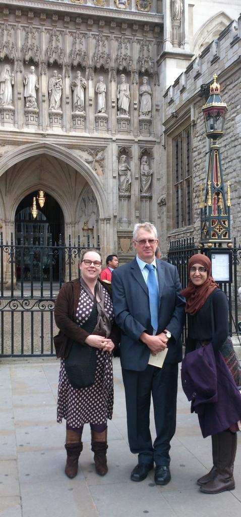 Staff and volunteers outside Westminster Abbey