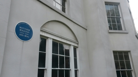 Soho House Museum with blue plaque