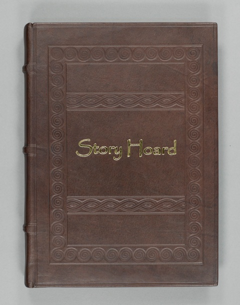 The front cover of the Story Hoard book