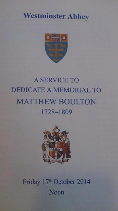 Order of Service from Westminster Abbey