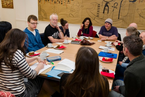 The writing group at Birmingham Museum and Art Gallery