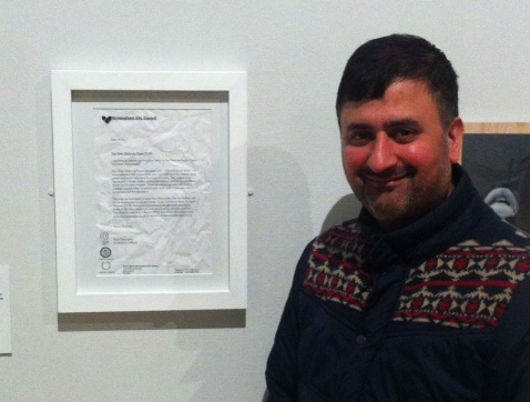 Dan Auluk with his West Midlands Open rejection letter