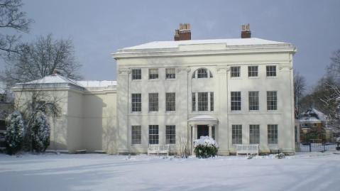 Soho House - The Georgian house in the snow.